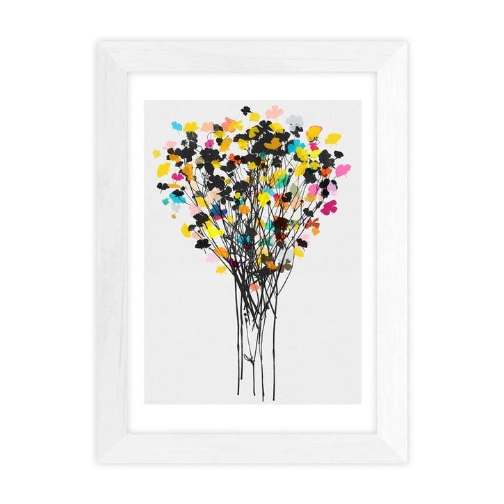 Garima Dhawan, Buttercups II, Framed Art Print, H48 x W37 x D2cm, White