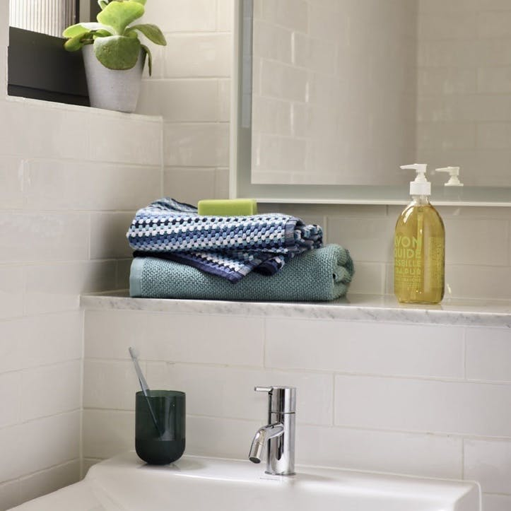 Carnaby Stripe Hand Towel, Blue