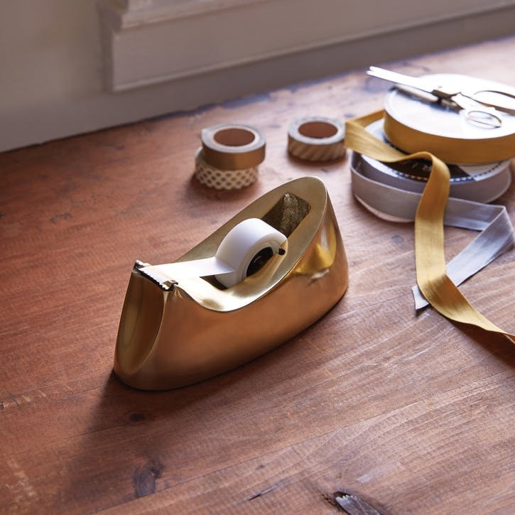 Modernist Tape Dispenser, Brass