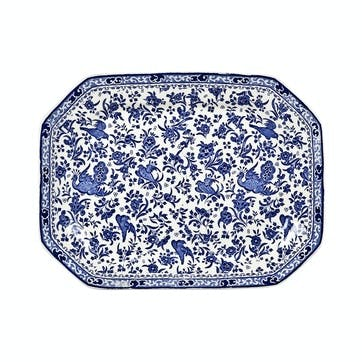 Regal Peacock Rectangular Dish, 34cm, Blue