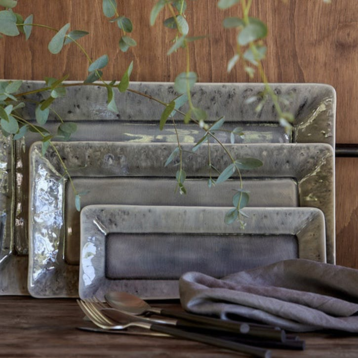 Madeira Grey Rectangular Platter