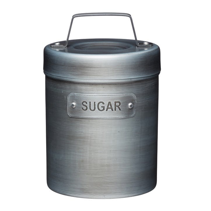 Industrial Kitchen Vintage-Style Metal Sugar Caddy