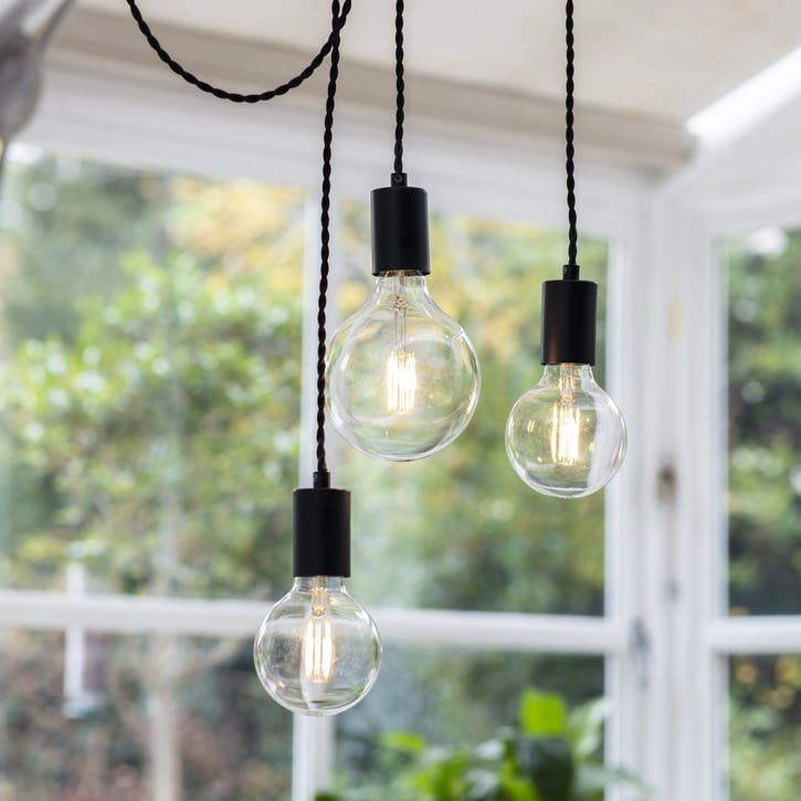Soho 3 Light Pendant, Carbon