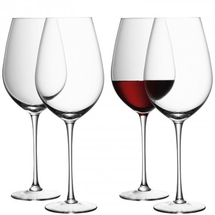 LSA Wine Red Wine Goblet 850ml, Set of 4