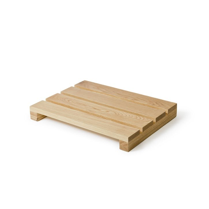 Apartment Duck Board Bath Mat, Natural Oak