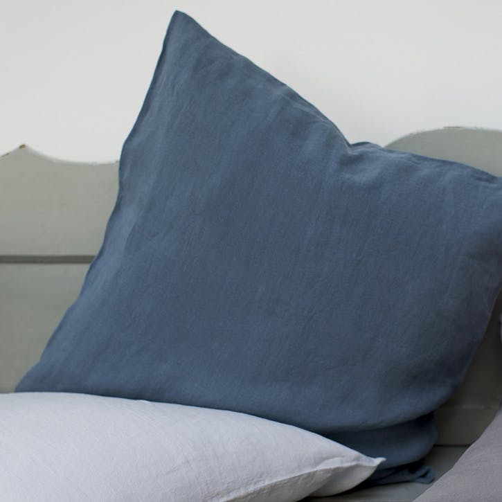 Piped Cushion Cover, Parisian Blue