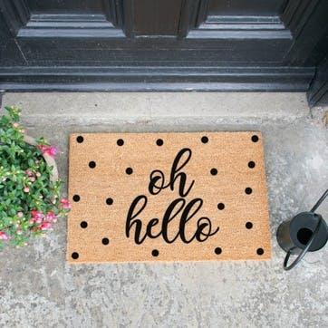 Oh Hello Dotty Doormat
