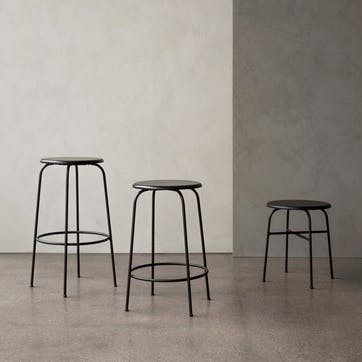 Afteroom, Counter Stool, H65 x W46 x D46cm, Black
