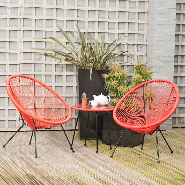 Rio 3 Piece Bistro Set, Red
