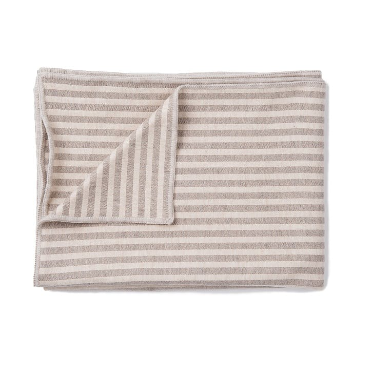 Harbour Stripe Throw; Mushroom & Ecru