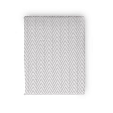 Herringbone Grey Super King Duvet Cover