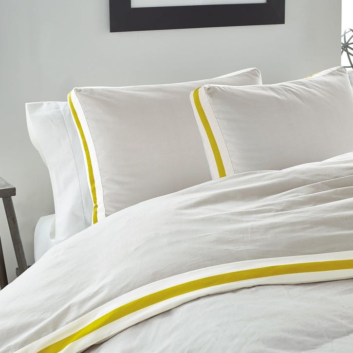 Sport Stripe Standard Pillowcase, Silver Citron