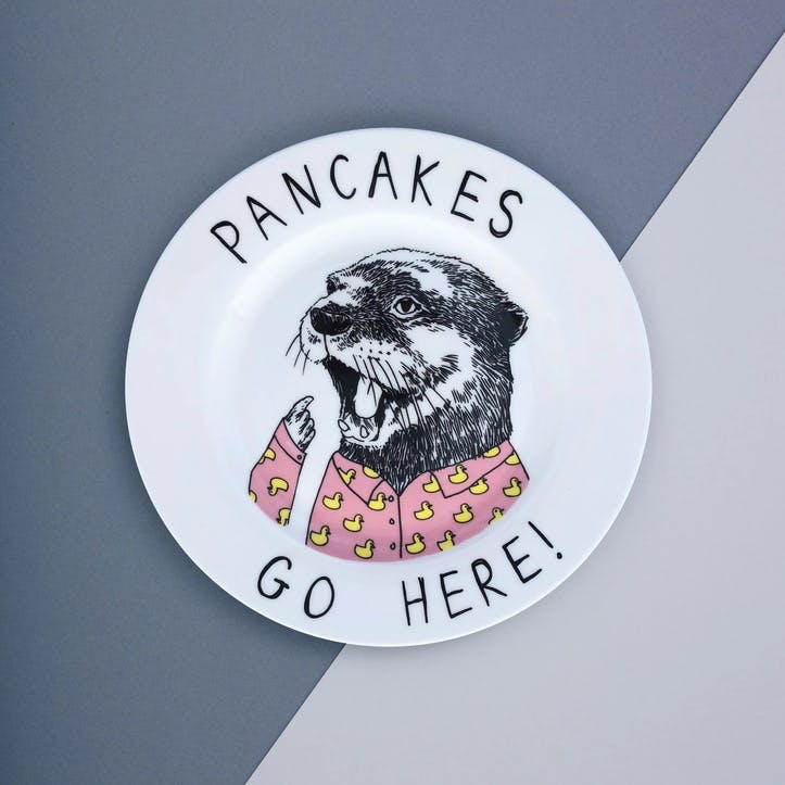 'Pancakes Go Here' Side Plate