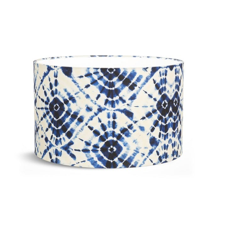Shibori Swirls Table Drum Shade, Small