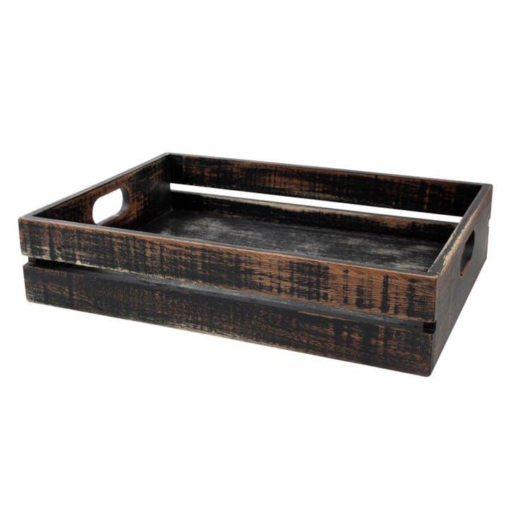 Drift Wooden Crate, Black