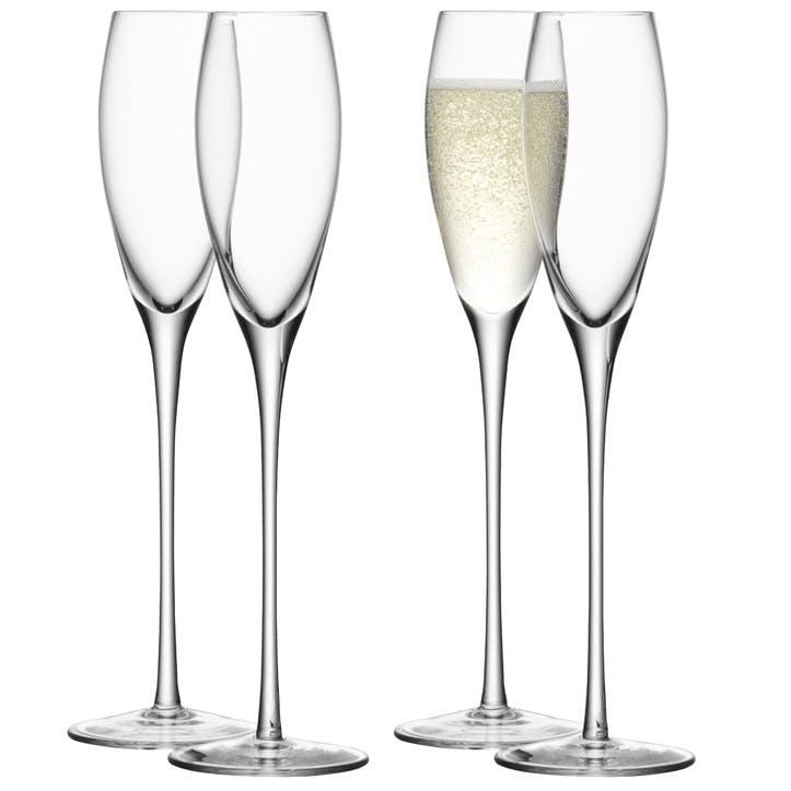 LSA Wine Champagne Flute 160ml, Set of 4