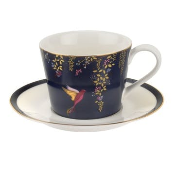 Chelsea Collection Tea Cup & Saucer; Navy