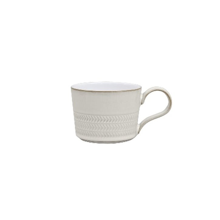 Natural Canvas Textured Tea/ Coffee Cup, 220ml, Cream