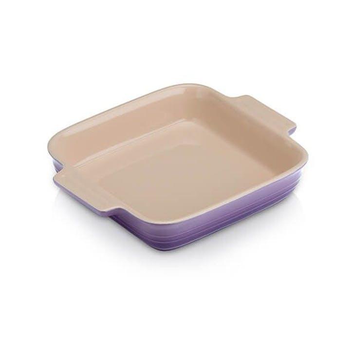 Stoneware Classic Square Dish, 23cm, Ultra Violet