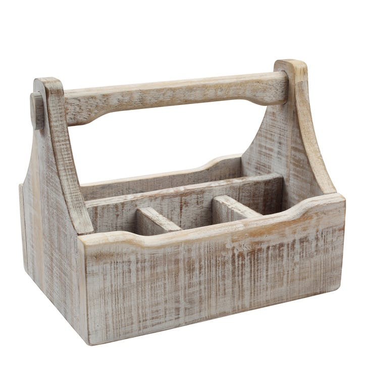 Nordic Table Caddy, White