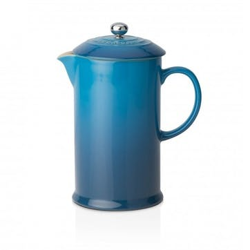 Stoneware Cafetiere with Metal Press; Marseille Blue