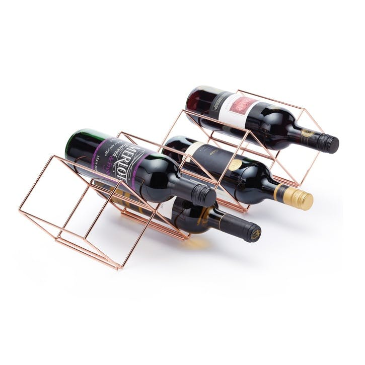 Stackable Copper Finish Wine Rack