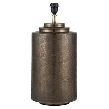 Zuri Etched Table Lamp Base, Antique Brass