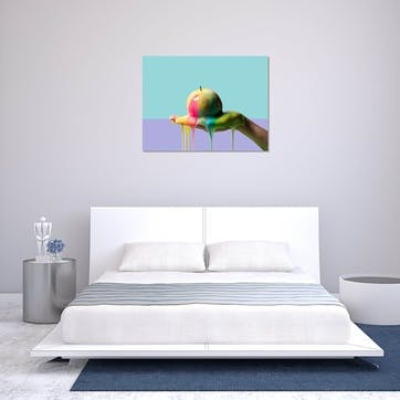 Apple and Slime on Colour ChromaLuxe Metal Print, H51 x W76cm, Multi