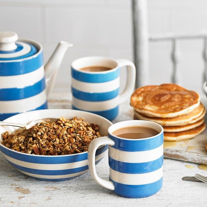 Set of 4 Cereal Bowls, 17cm, Blue