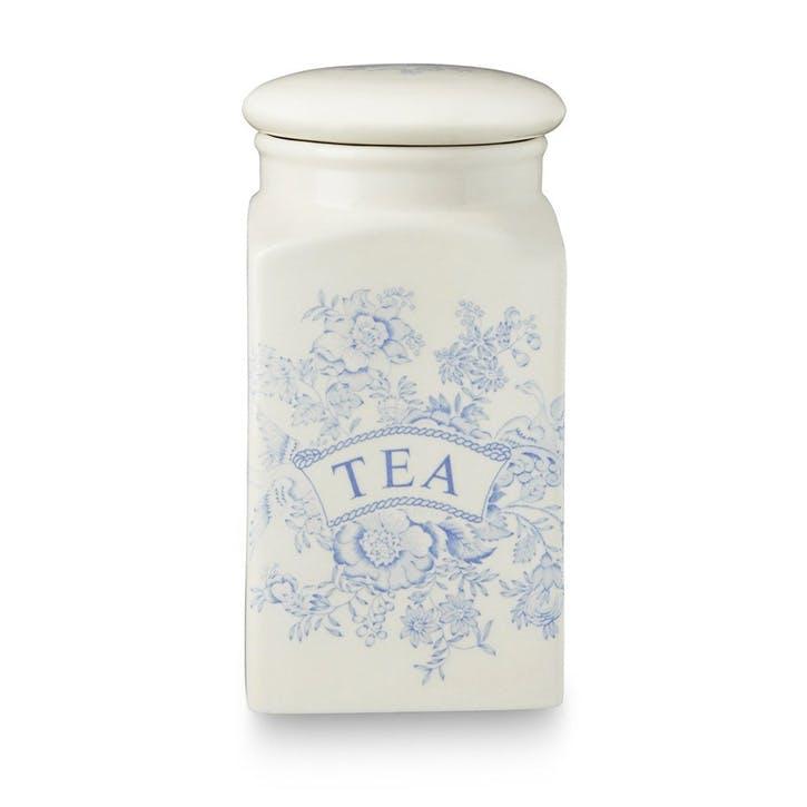 Asiatic Pheasants Square Tea Storage Jar, 18cm, Blue