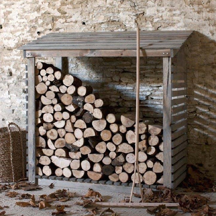 Aldsworth Log Store Wide, Spruce