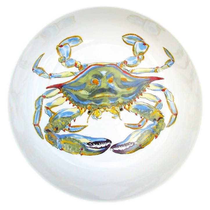 Blue Crab Round Bowl - 24cm