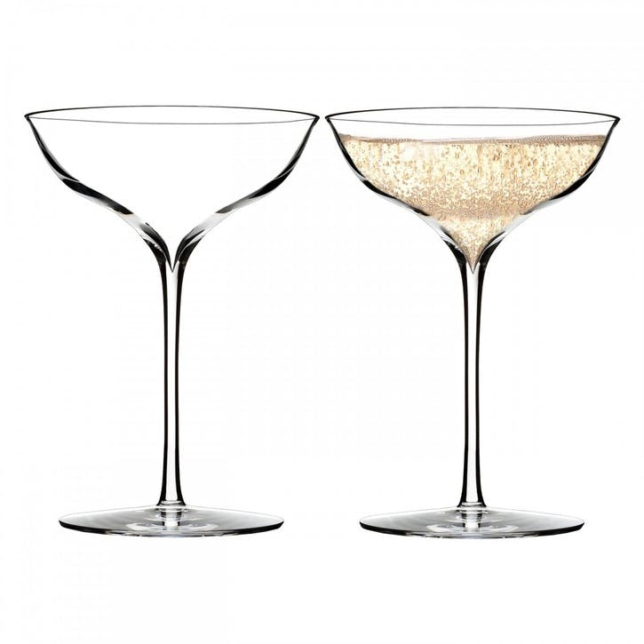 Elegance Crystal Champagne Coupe, Set of 2