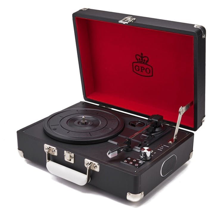 Attaché Case Turntable; Jet Black