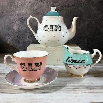 Pastel Gin Teacup & Saucer