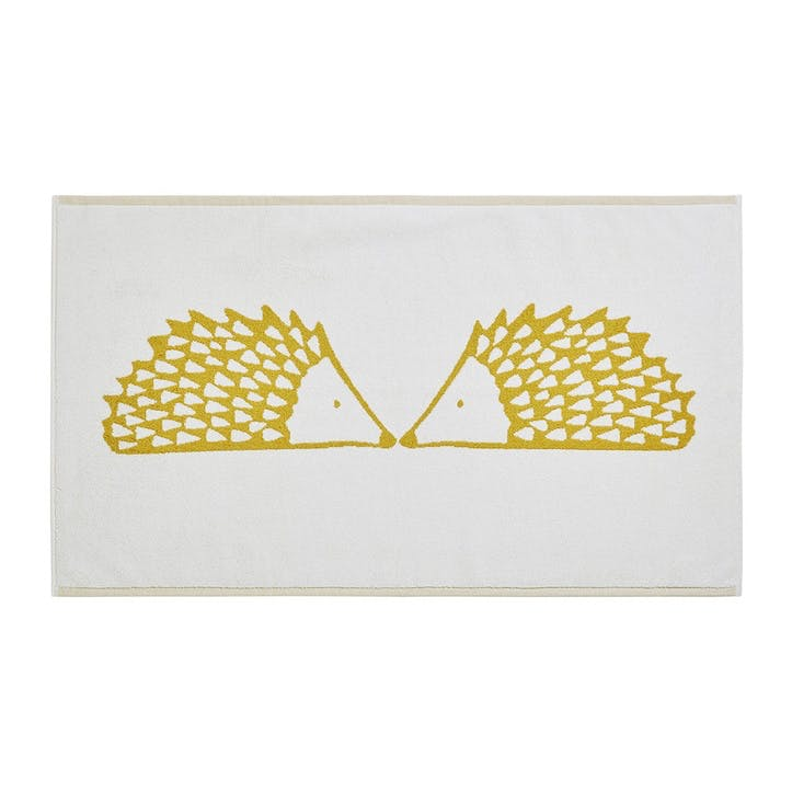 Spike the Hedgehog Bath Mat,  Mustard