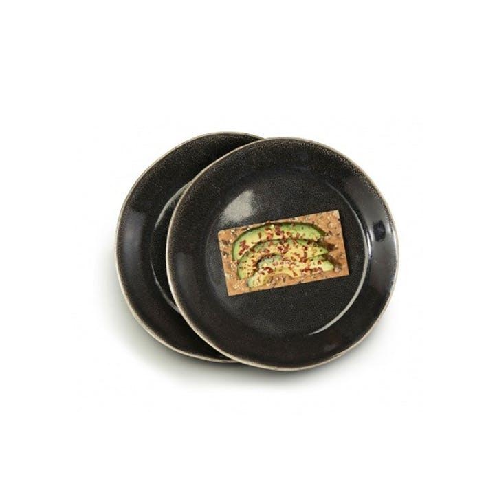 Osby Dinner Plates, Set of 4, Grey