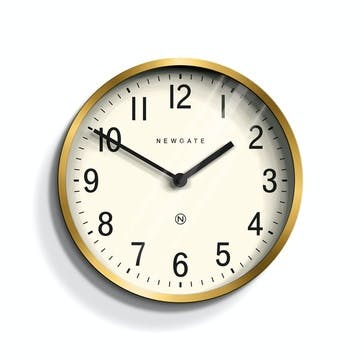 Master Edwards Wall Clock, Dia. 30cm, Radial Brass