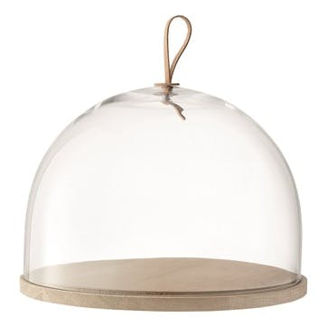 LSA Ivalo Glass Dome and Ash Base Large, 32cm