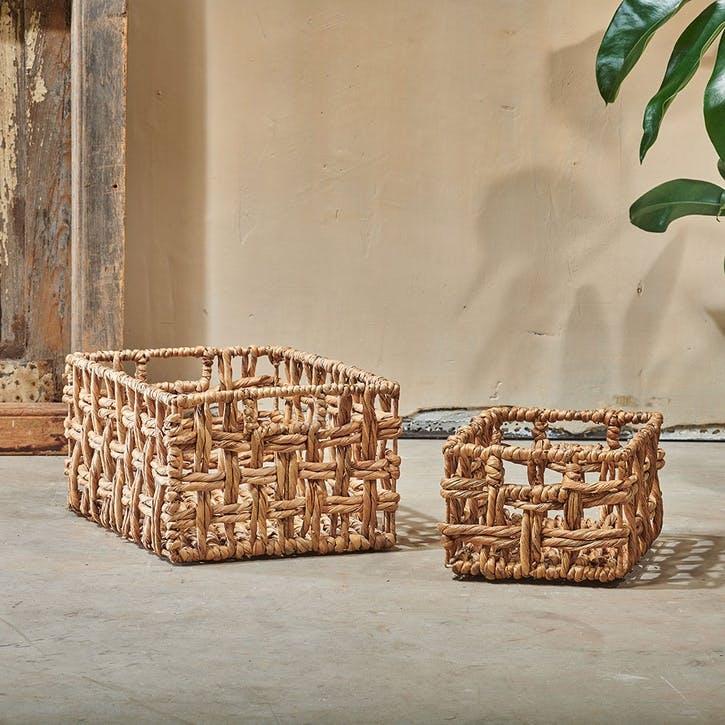 Kora, Rectangular Storage Basket, Small, Natural