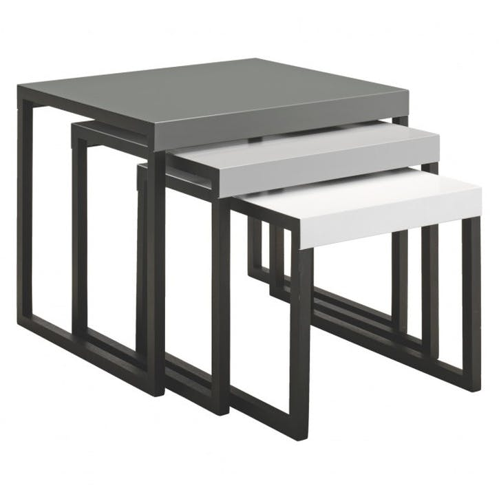 Kilo Metal Nest of Side Tables, Black