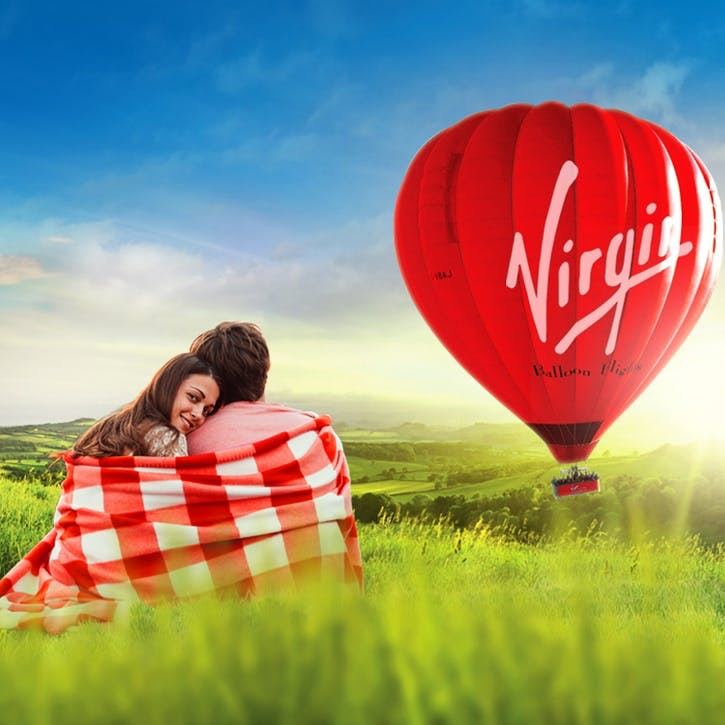 National Romance Hot Air Balloon Gift Package for Two