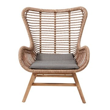 Aurora, Lounge chair and stool