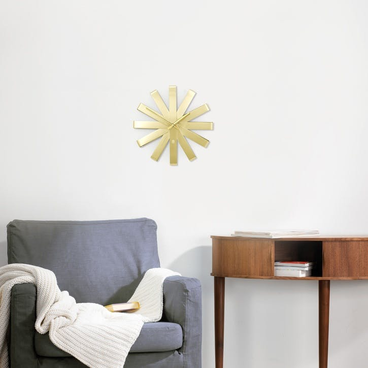 Ribbon Clock, Brass