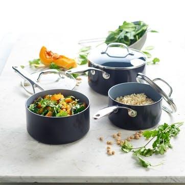 Venice Pro Ceramic Non-Stick Cookware Set, 3 Piece