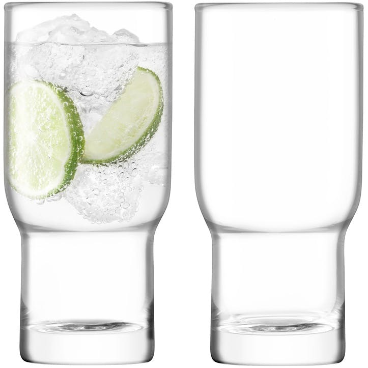 Utility Set of 2 Highballs; Clear