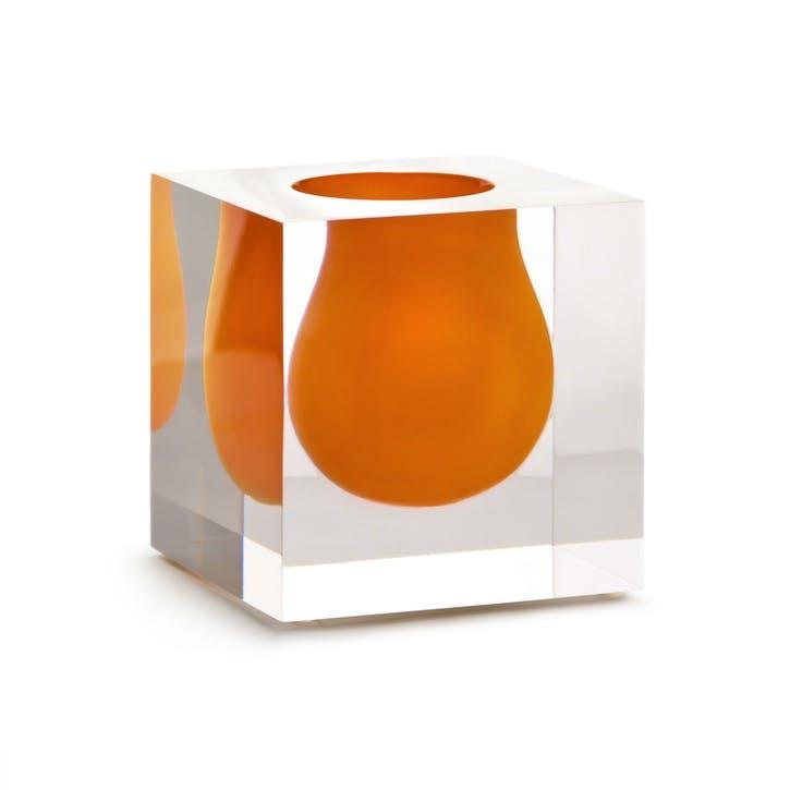 Bel Air Mini Scoop Vase, Orange