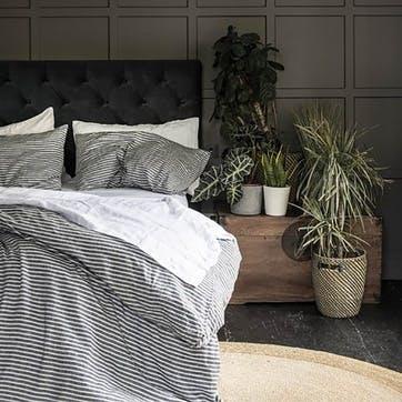 Bedding Bundle Kingsize Set Midnight Stripe