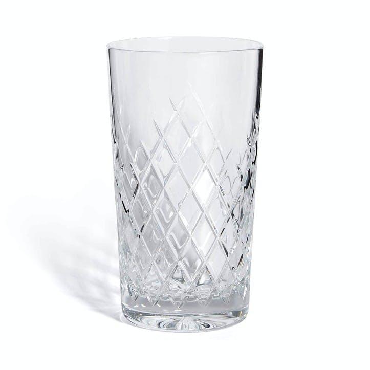 Barwell Cut Crystal Highball Glass, Clear