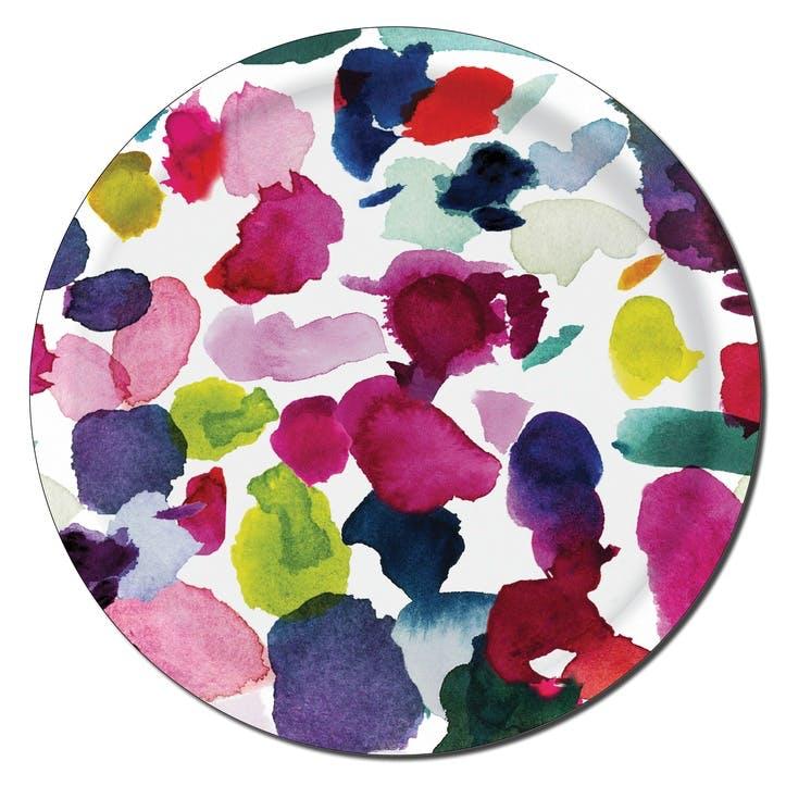 Abstract Small Circular Tray, 38cm